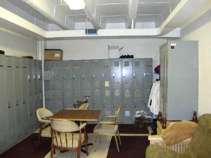 Private club employee locker room