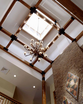 Wood millwork at country club